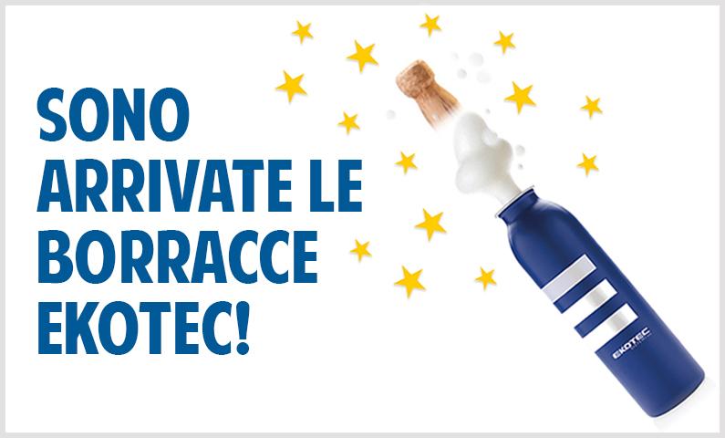 Le borracce Ekotec: il nostro contributo per un minor consumo di plastica