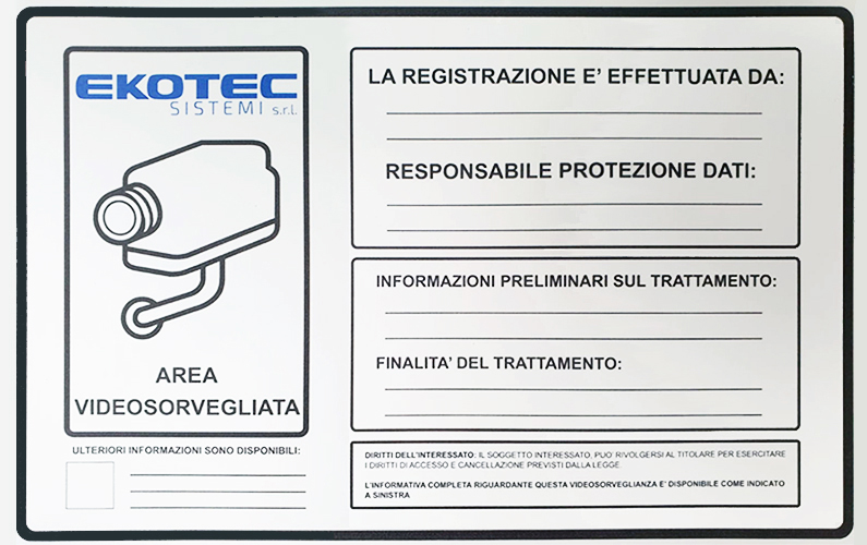 nuovi cartelli Ekotec