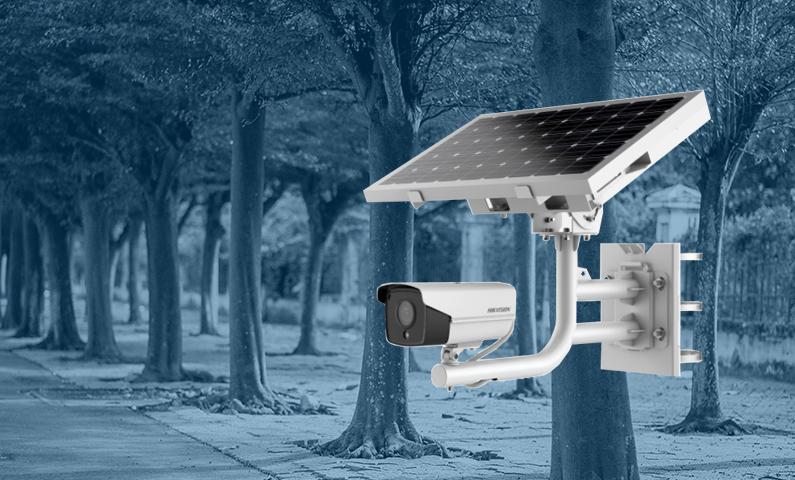 telecamera con pannello solare