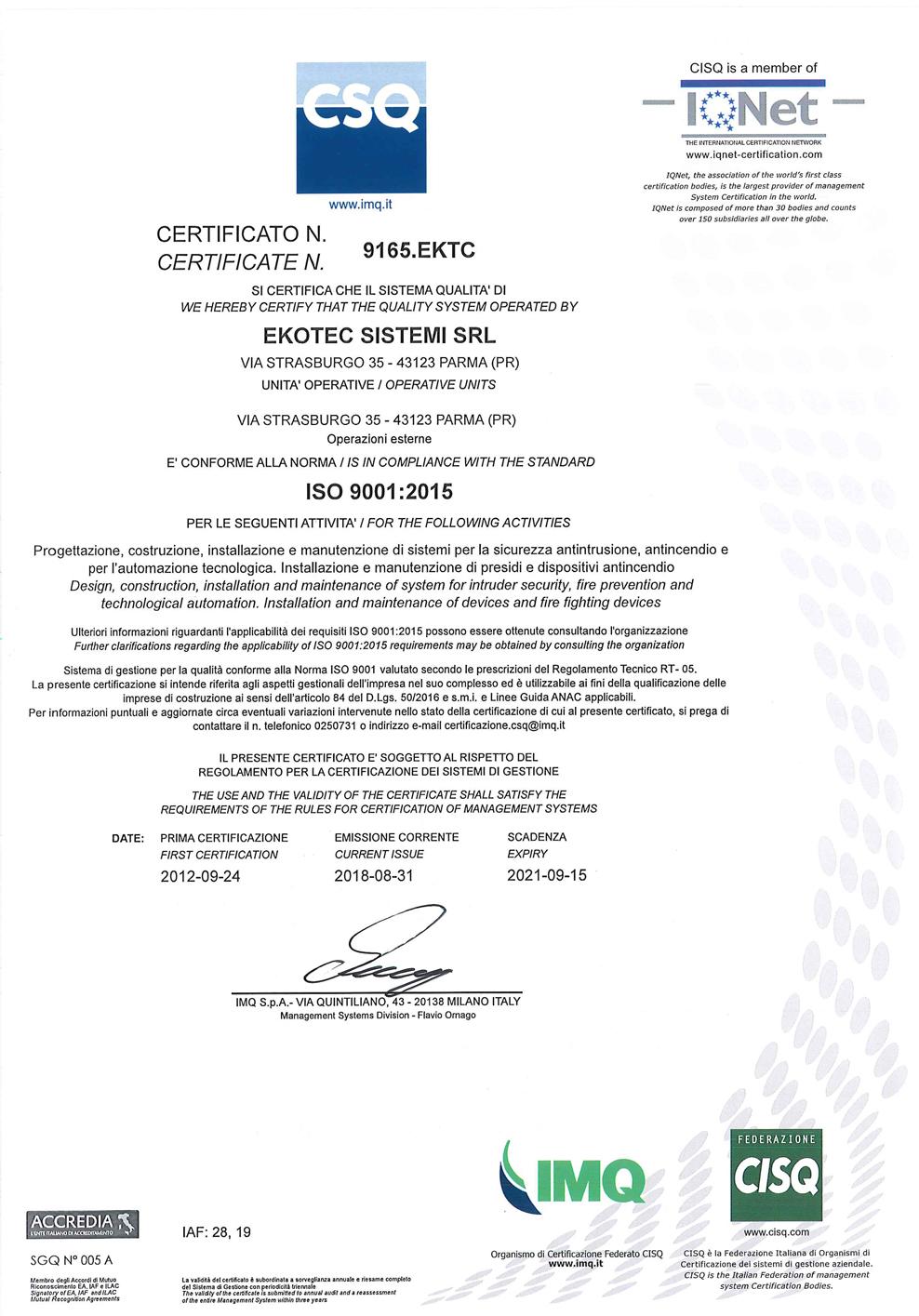 Certificazione ISO pg1
